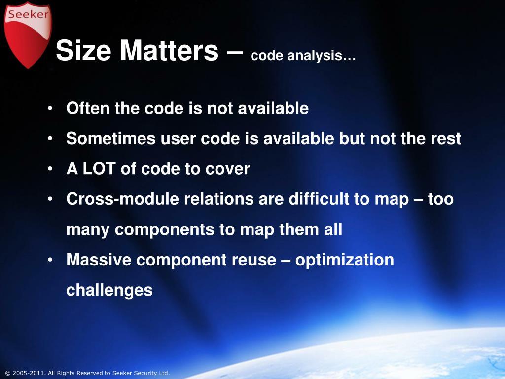 Size Matters –