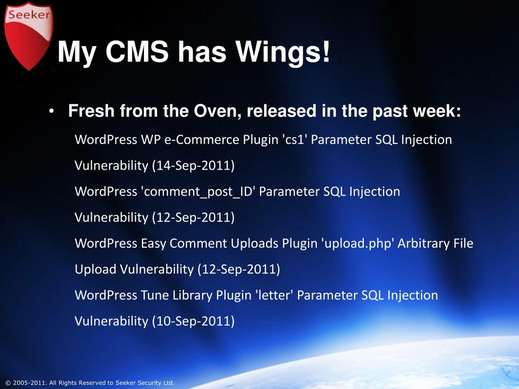 My CMS has Wings!