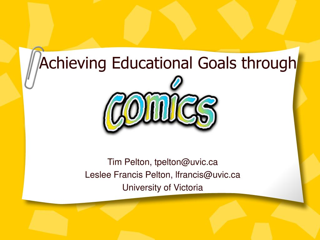 Achieving Educational Goals through