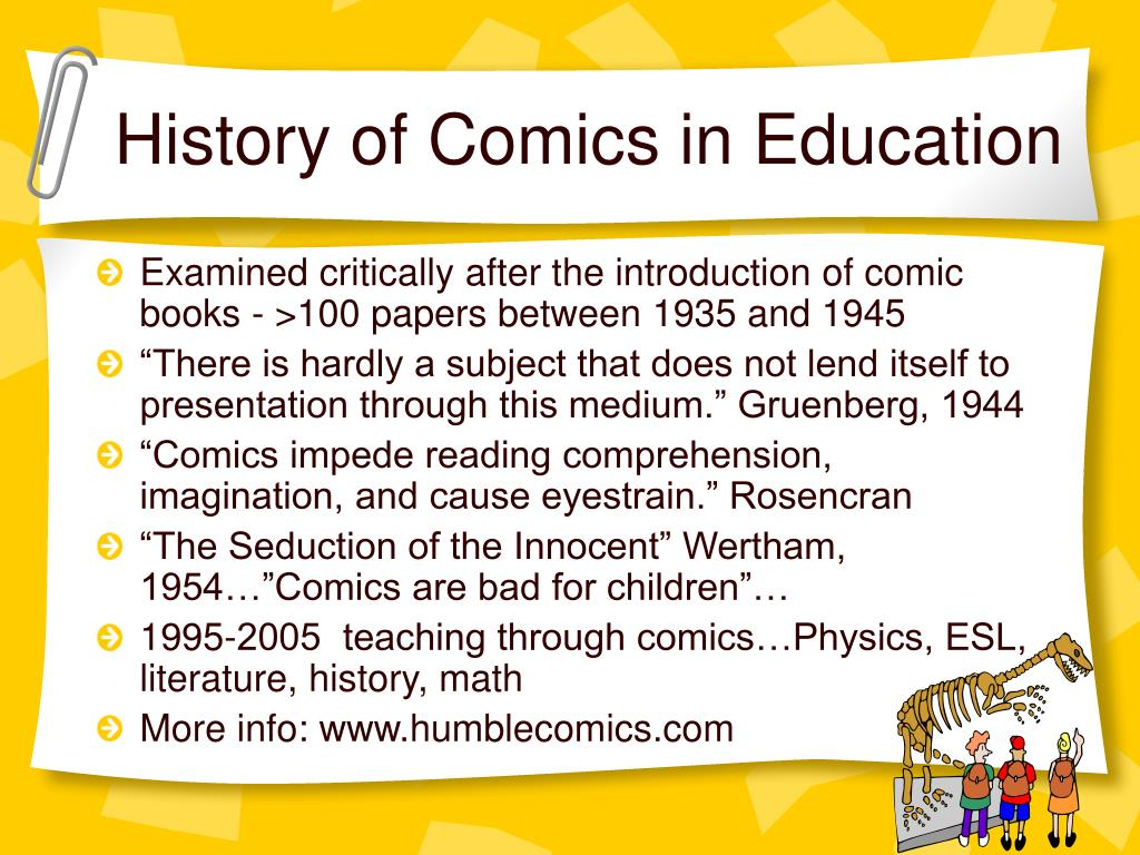 History of Comics in Education