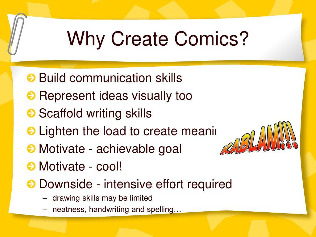 Why Create Comics?