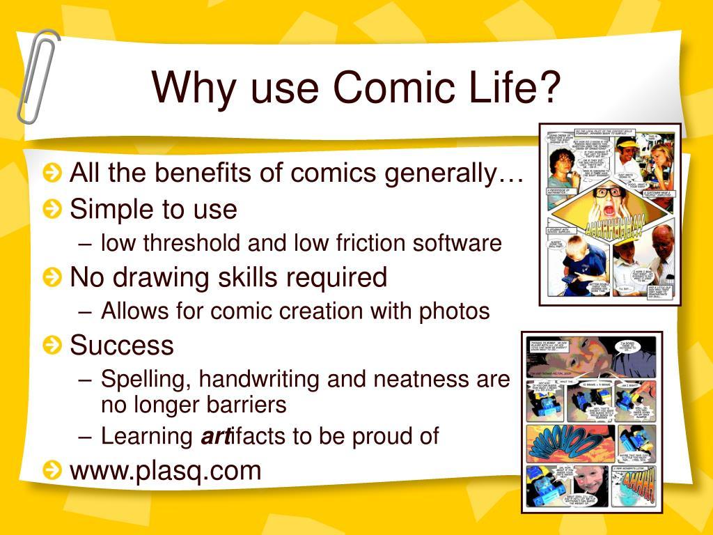 Why use Comic Life?