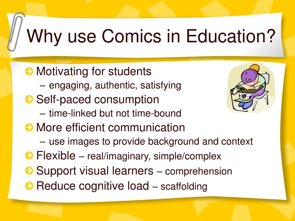 Why use Comics in Education?