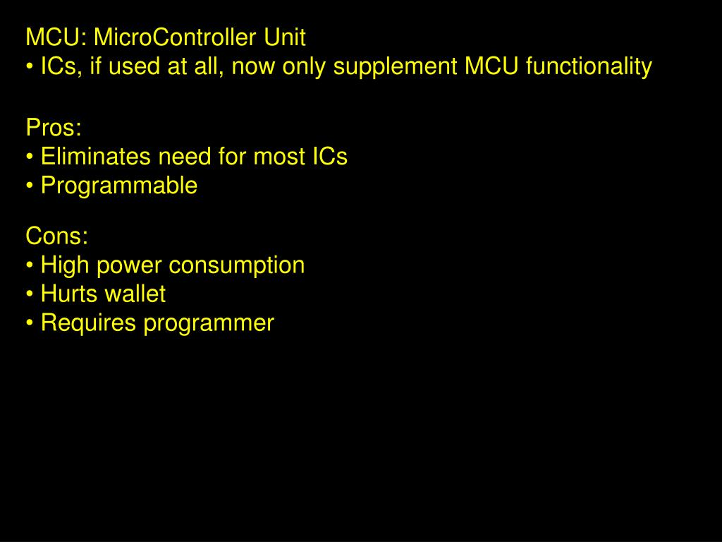 MCU: MicroController Unit