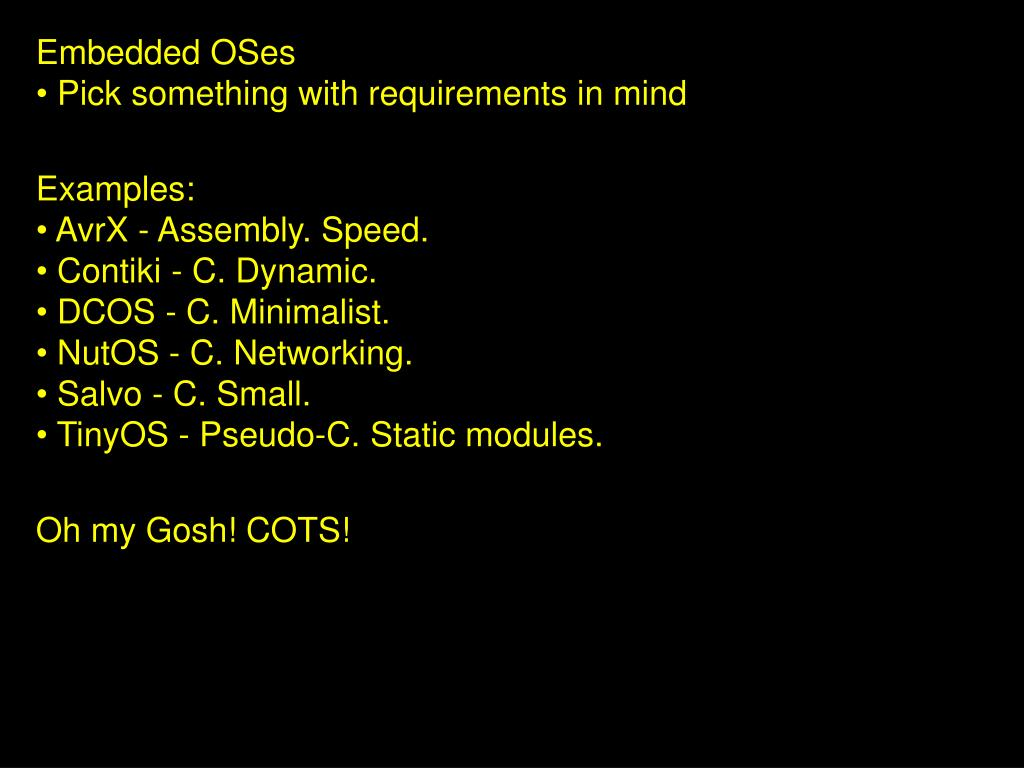 Embedded OSes