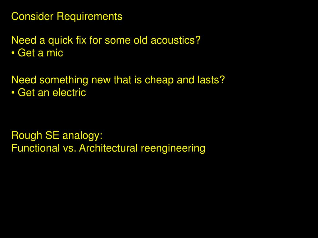 Consider Requirements