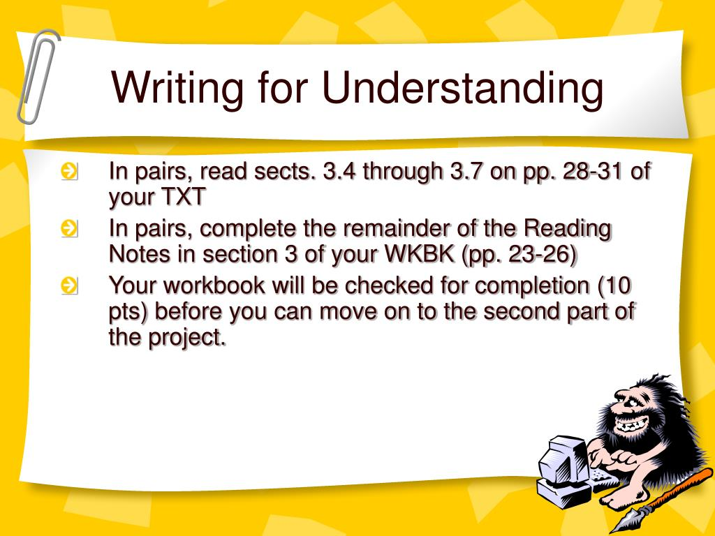 Writing for Understanding