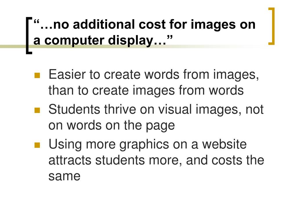 """""""…no additional cost for images on a computer display…"""""""
