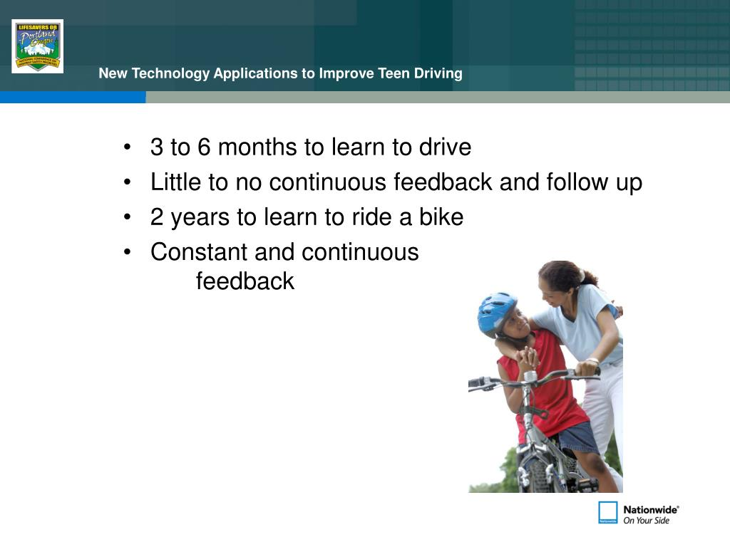 New Technology Applications to Improve Teen Driving