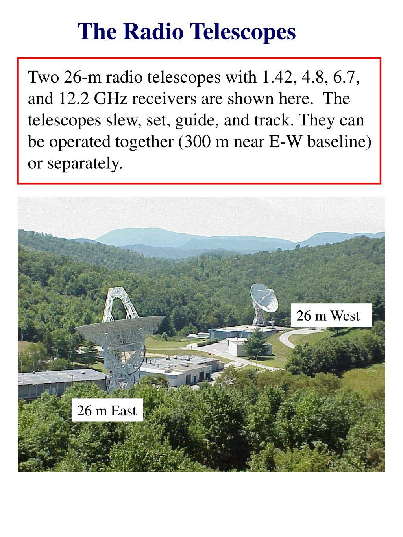 The Radio Telescopes