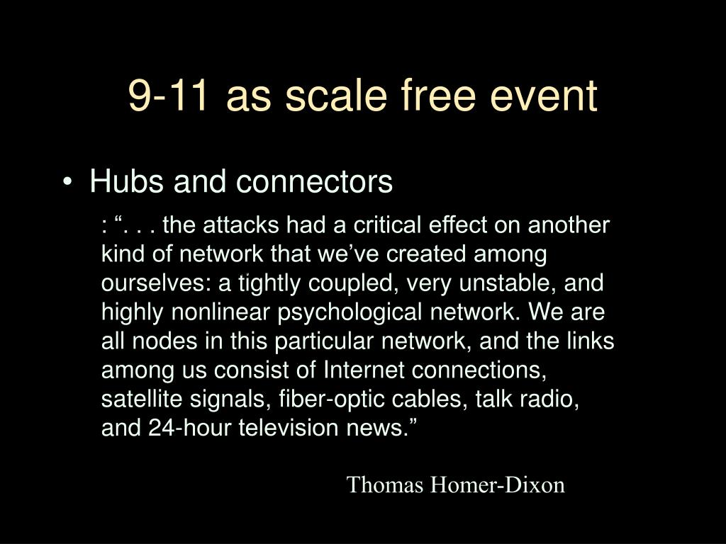 9-11 as scale free event