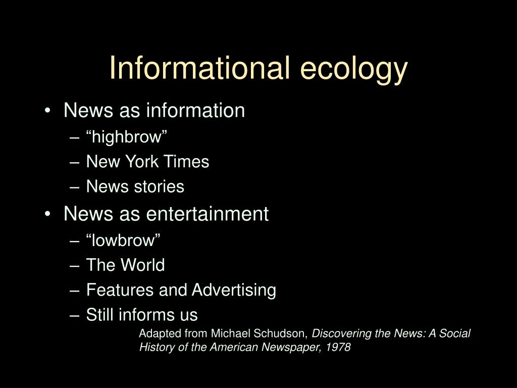 Informational ecology
