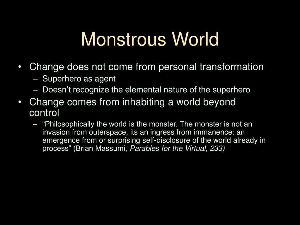 Monstrous World