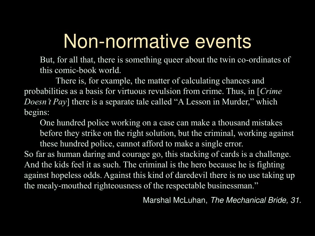 Non-normative events