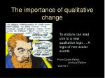 the importance of qualitative change