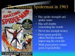 the amazing spiderman in 1963