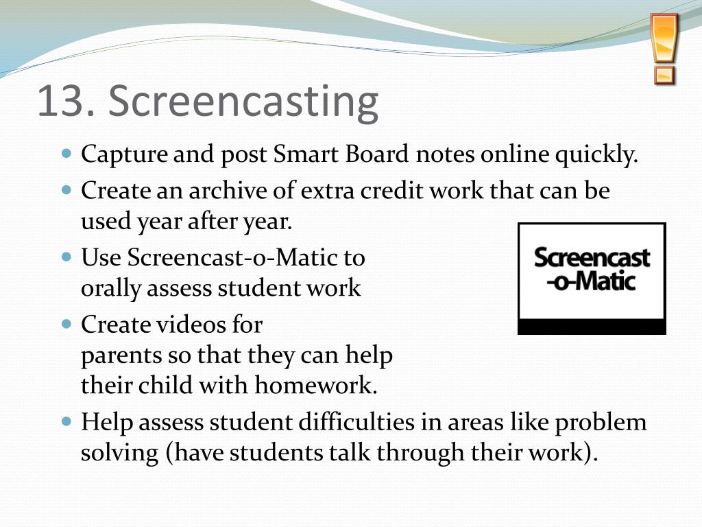 13. Screencasting