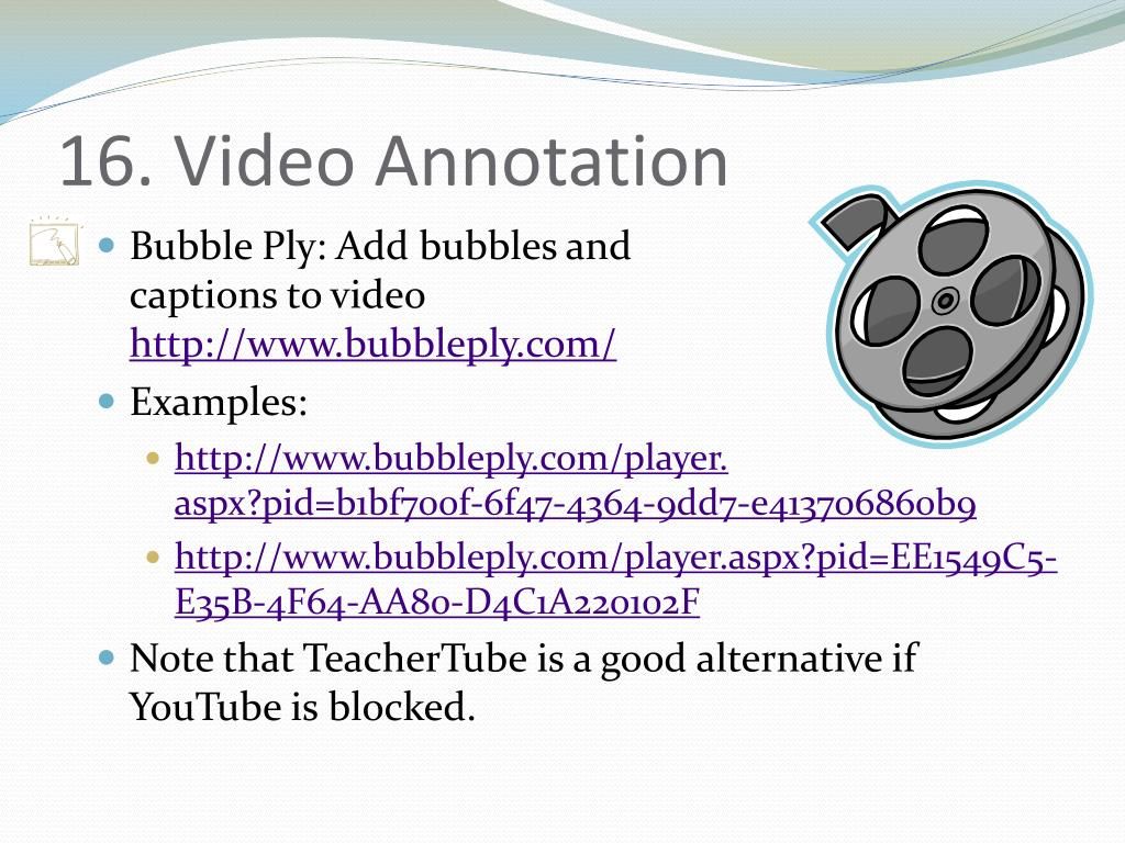 16. Video Annotation