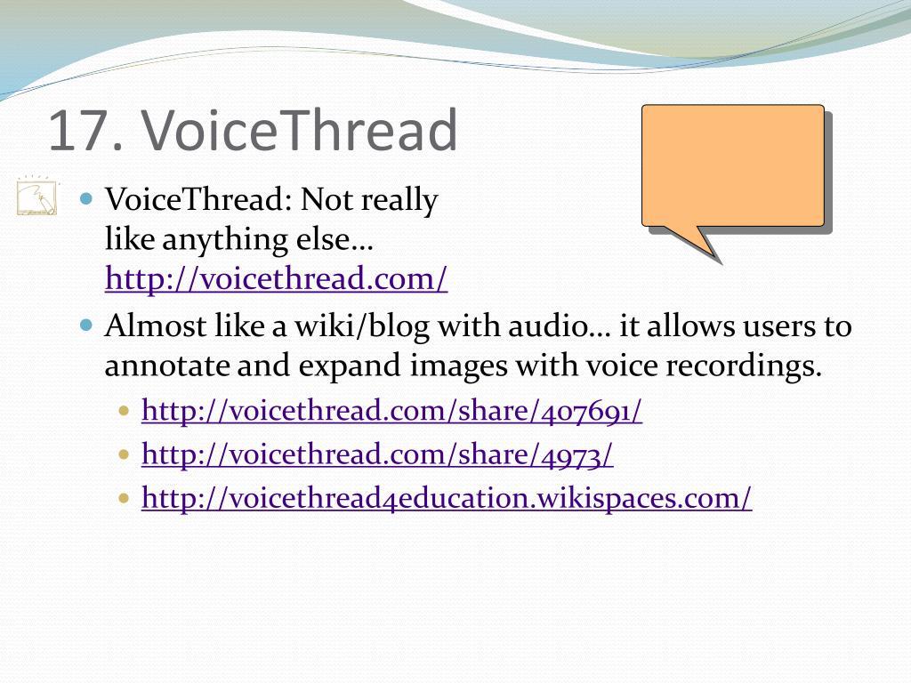 17. VoiceThread