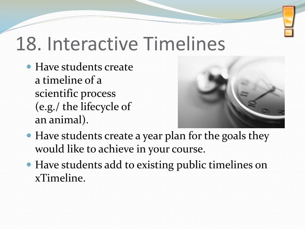 18. Interactive Timelines