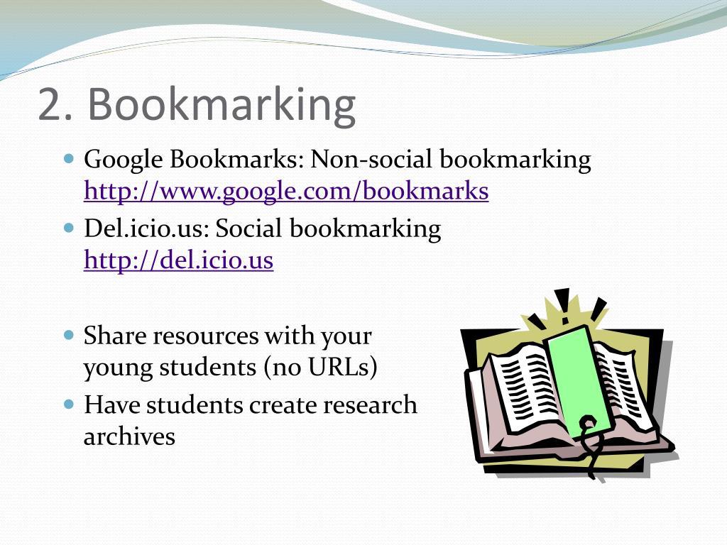 2. Bookmarking