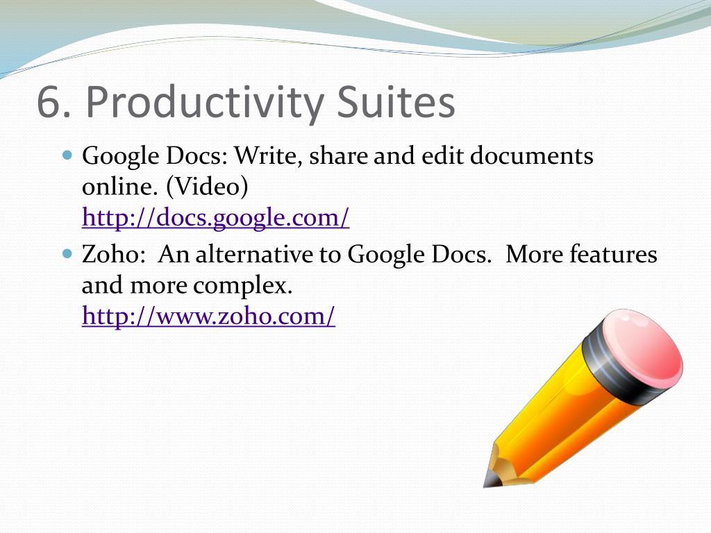 6. Productivity Suites