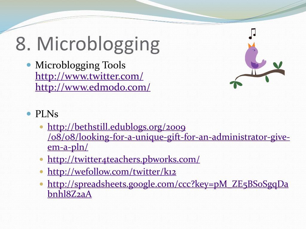 8. Microblogging