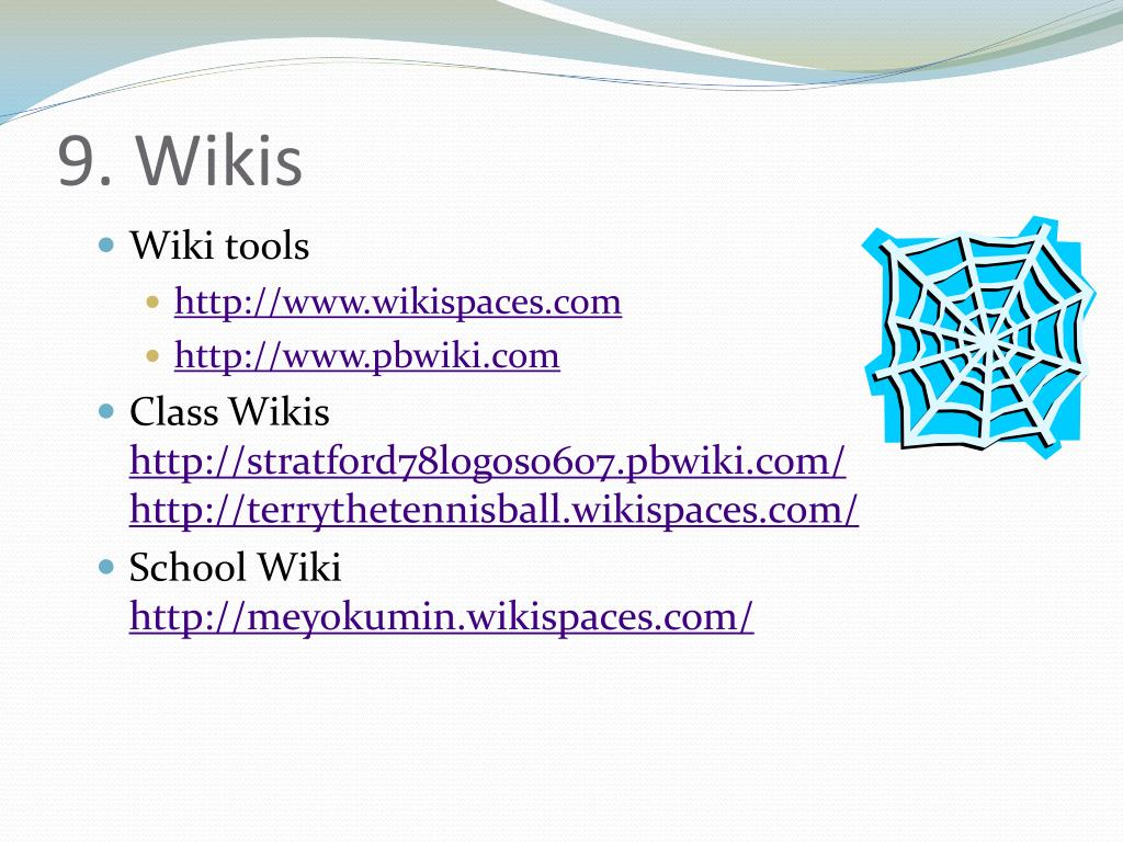 9. Wikis