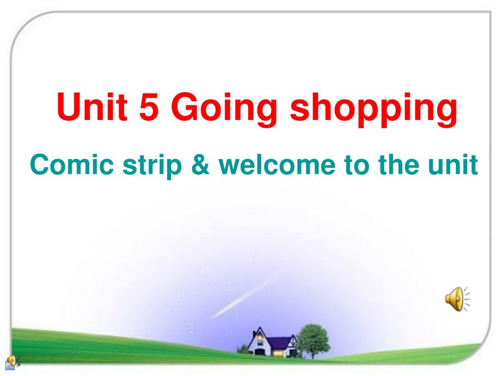 unit 5 going shopping