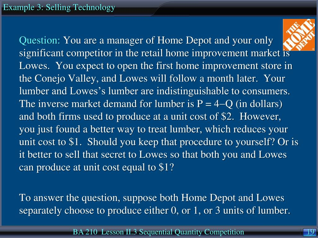 Example 3: Selling Technology