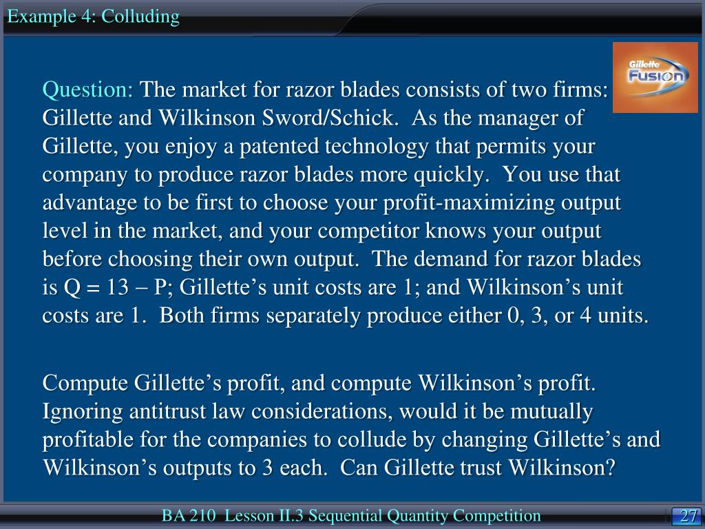 Example 4: Colluding