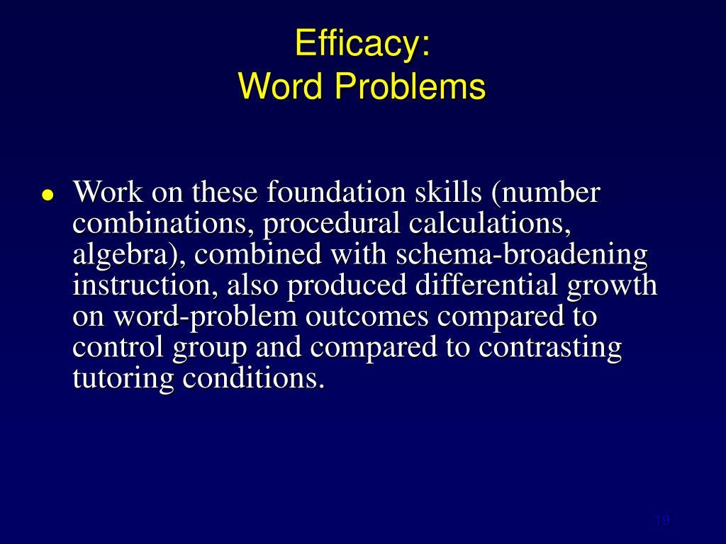 Efficacy: