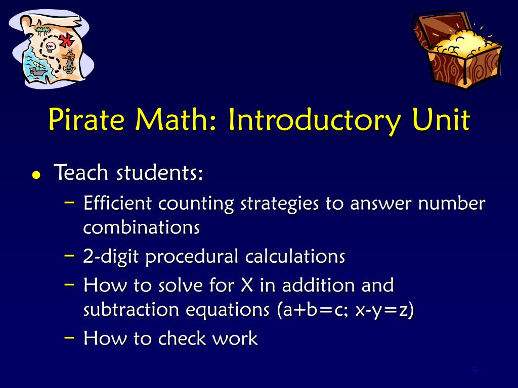 Pirate Math: Introductory Unit