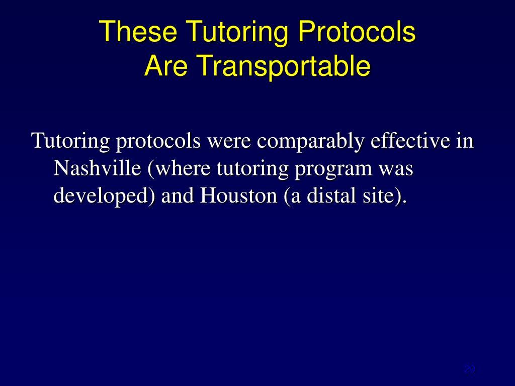 These Tutoring Protocols