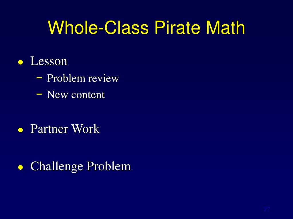 Whole-Class Pirate Math