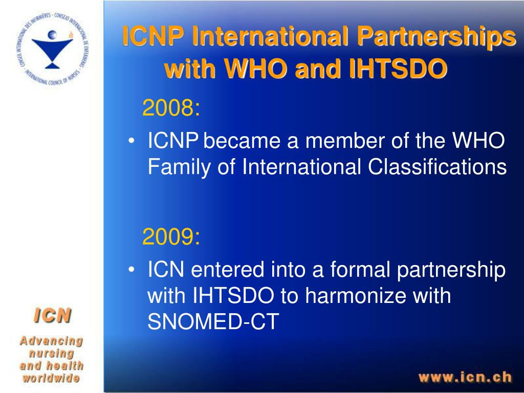ICNP International Partnerships