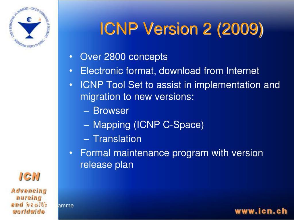 ICNP Version 2 (2009)