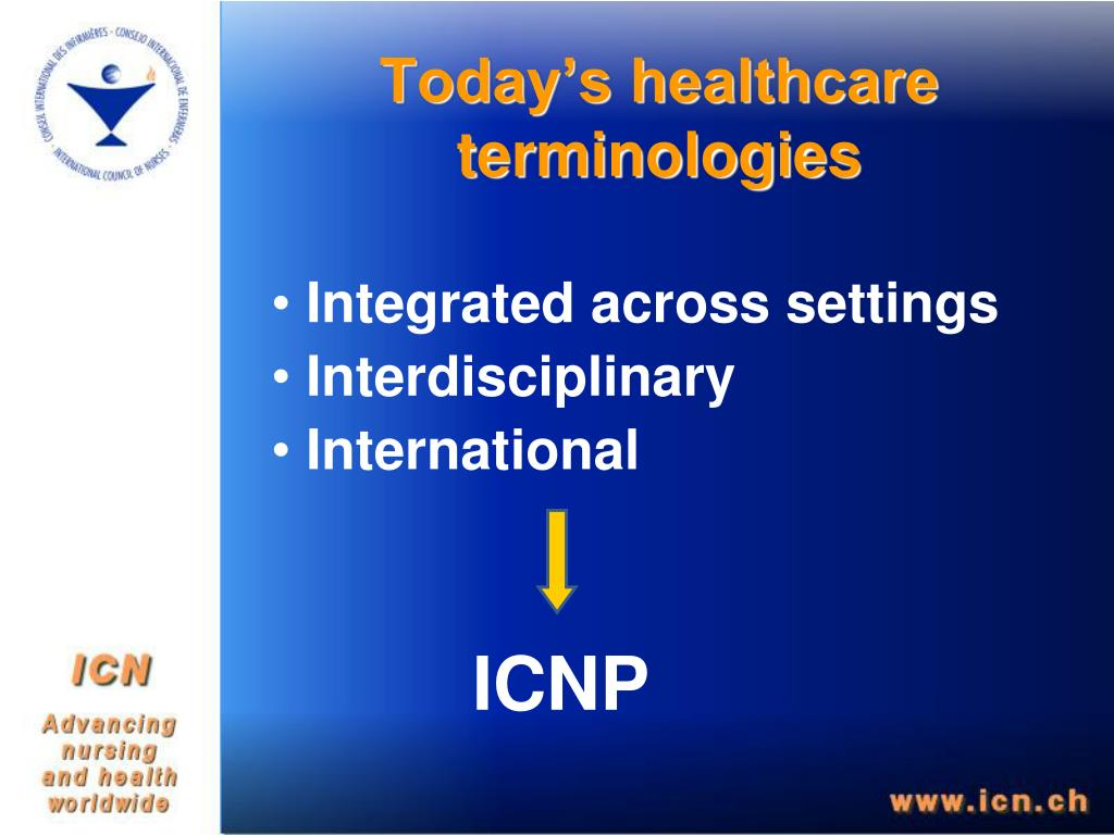 Today's healthcare terminologies