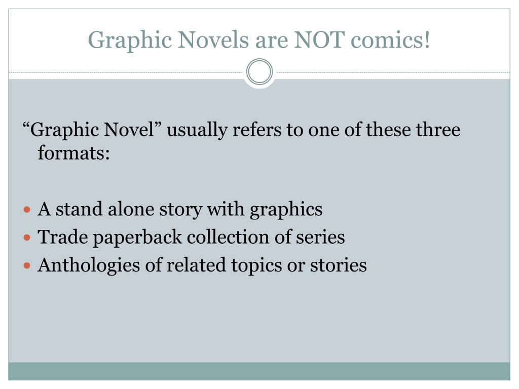 Graphic Novels are NOT comics!