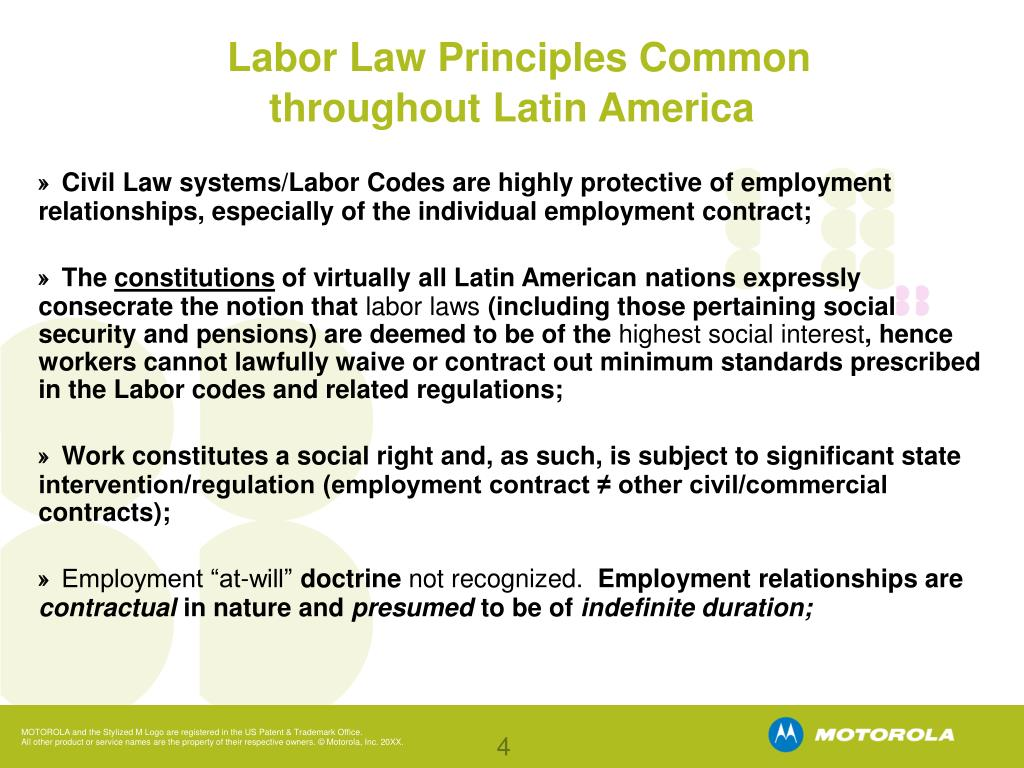 Labor Law Principles Common