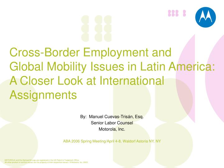 Cross-Border Employment and