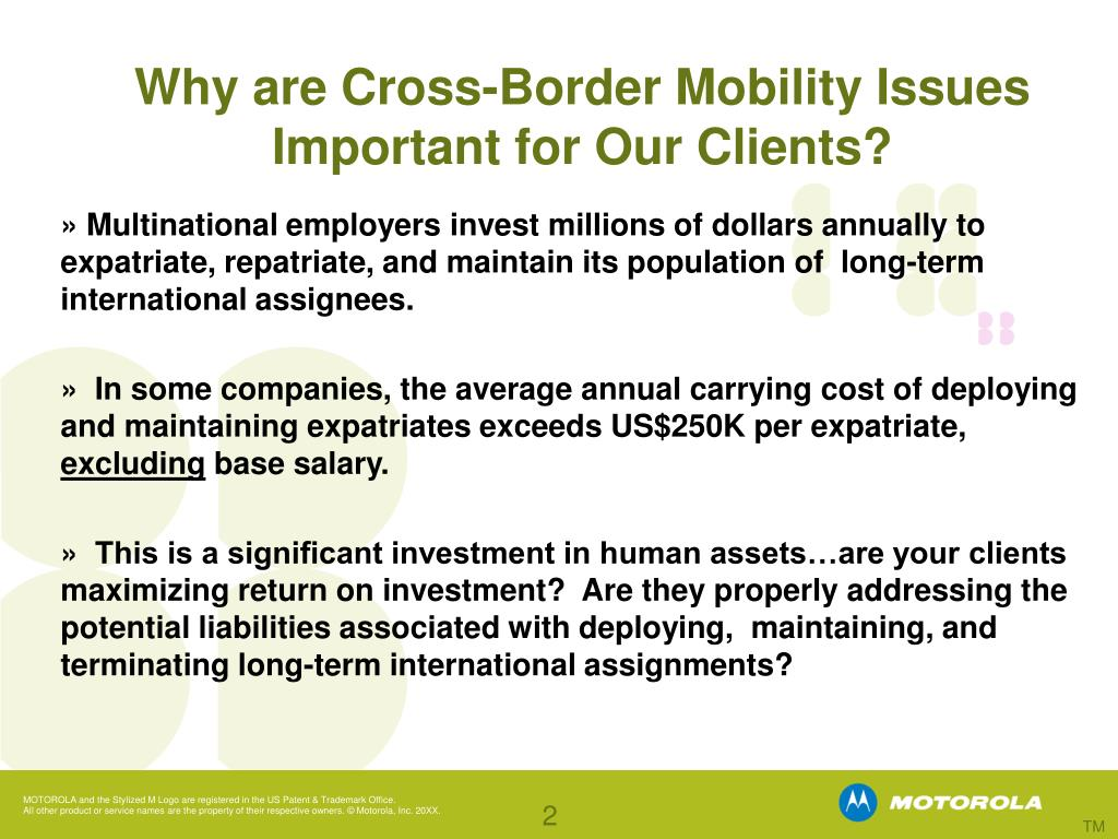 Why are Cross-Border Mobility Issues Important for Our Clients?