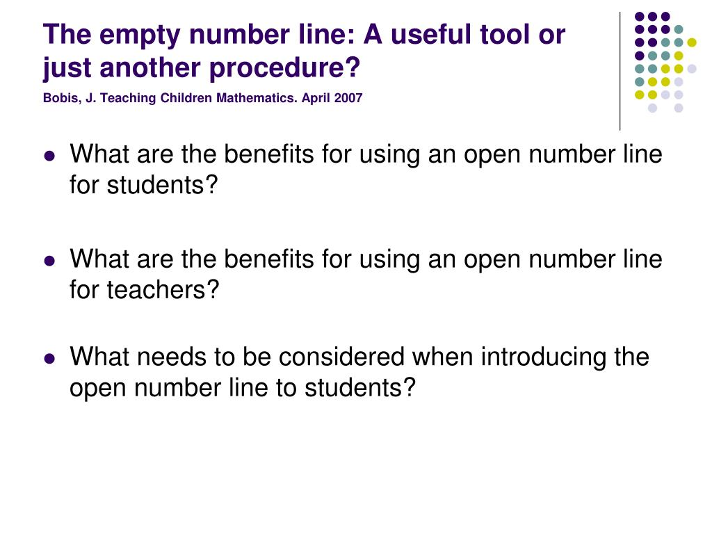 The empty number line: A useful tool or just another procedure?