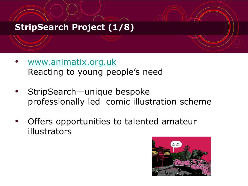 StripSearch Project (1/8)