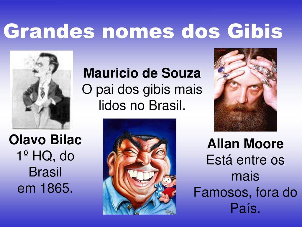Grandes nomes dos Gibis