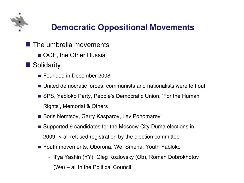 Democratic Oppositional Movements