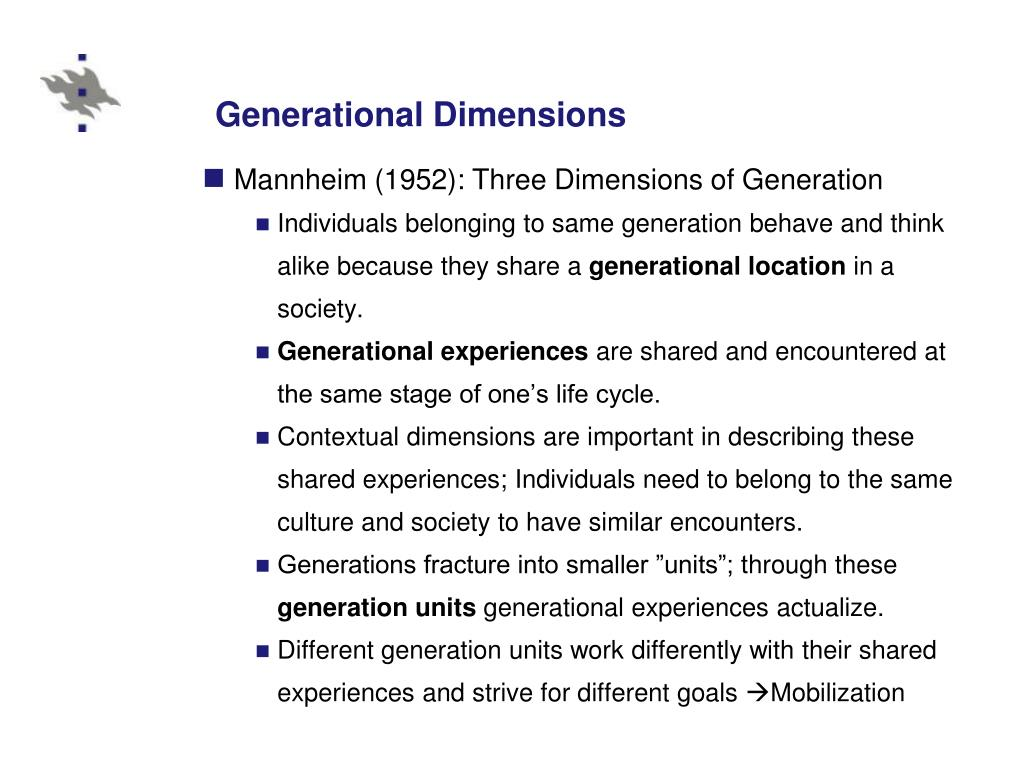 Generational Dimensions