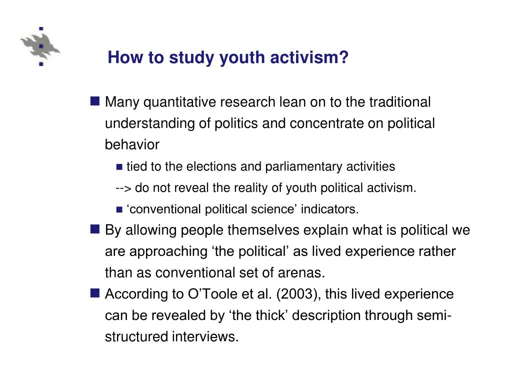 How to study youth activism?