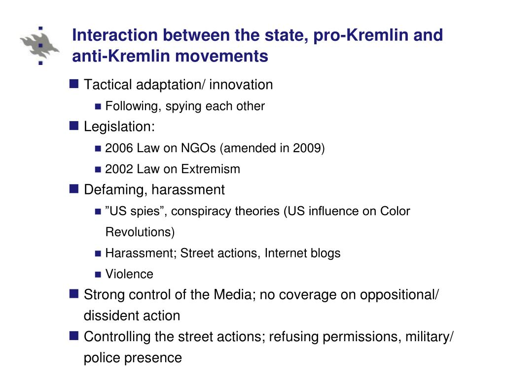 Interaction between the state, pro-Kremlin and anti-Kremlin movements