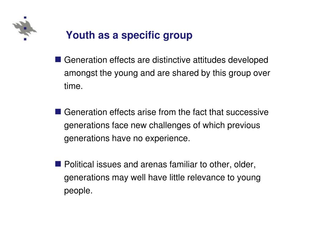 Youth as a specific group